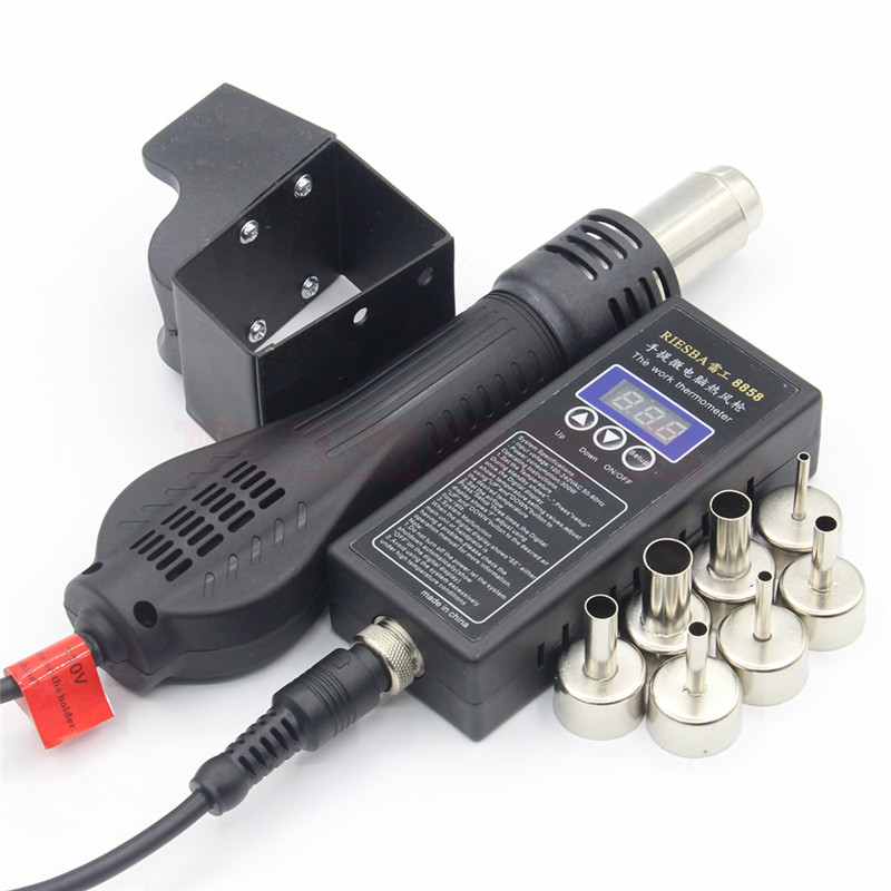 Image 5 - Riesba 8858 PLUG Portable BGA Rework Solder Station Hot Air Blower Heat Gun + Welding toolsheat gunhot air blowerhot air - AliExpress