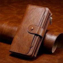 Luxe Multifunctionele Vrijstaande Wallet Case Voor Samsung S20 Ultra Leather Flip Cover S8 S9 S10 E 5G Note 8 9 10 Plus Telefoon Tas