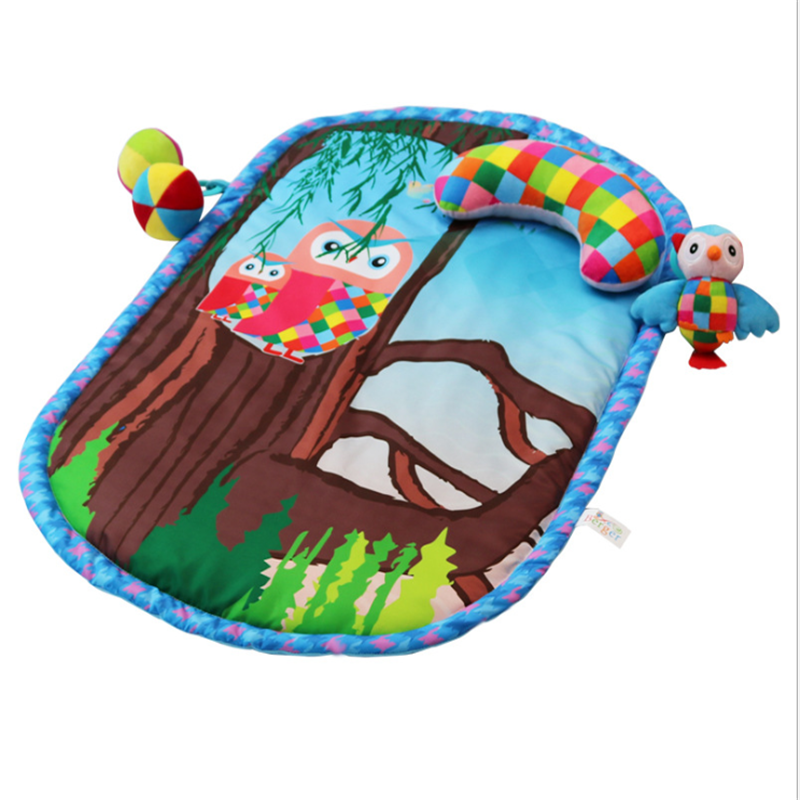 Baby Play Mat Thick Crawling Mat Game Pads Surface Baby Carpet Rug Cute Animal Print Developing Mat For Children