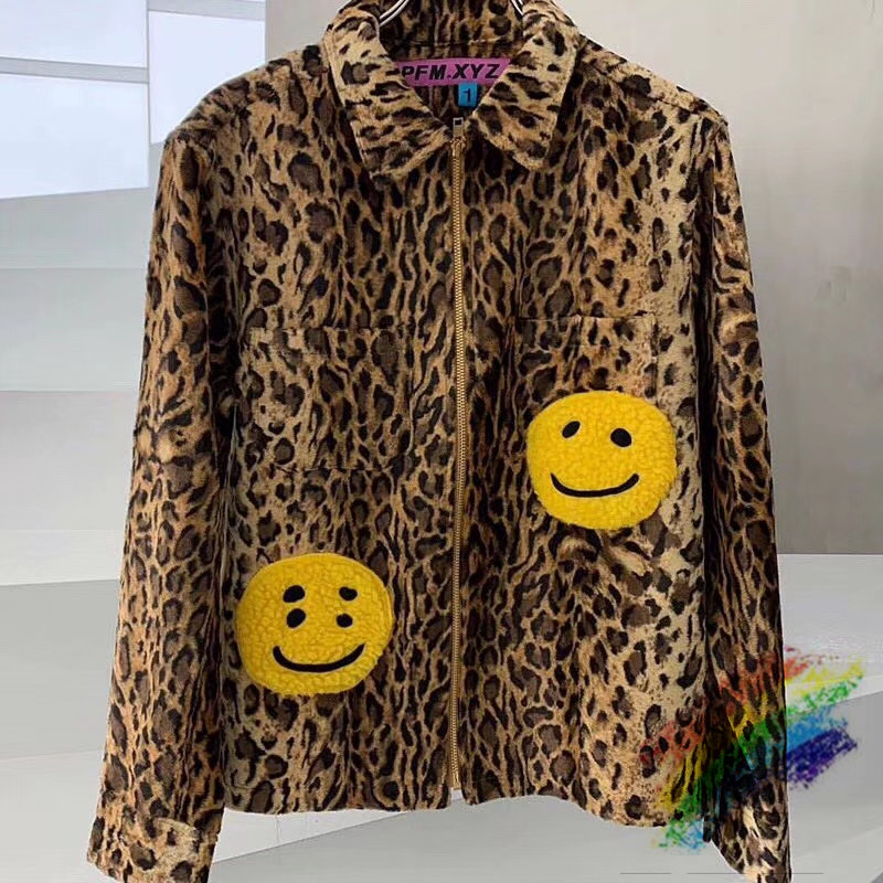 CPFM.XYZ Leopard Zip Work Jacket Men Women 1:1 High Quality Fashion 2020ss Jacket