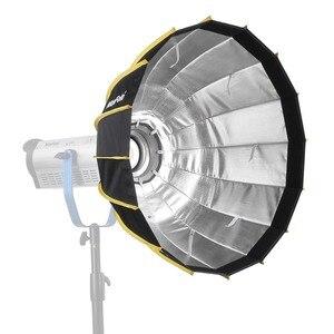 Image 4 - Nicemoto Caja difusora Hexagonal de Instalación rápida, portátil, 60cm, tela difusora, tira de rejilla, paraguas, caja suave para luz Flash de estudio