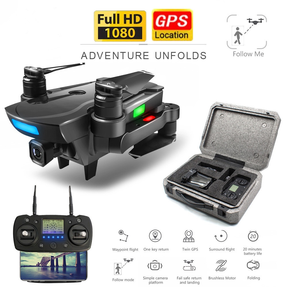 GPS <font><b>Drones</b></font> Quadcopter With 1080P HD Gimbal ESC Camera Brushless Motor RC Helicopter 5G <font><b>FPV</b></font> <font><b>Drone</b></font> RC Racing <font><b>Drone</b></font> Selfie Dron toy image