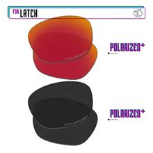 Replacement Lenses For-Oakley-Latch Sunglasses-Blackpplus-Redpplus Polarized