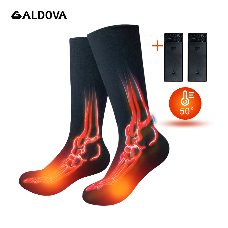 Electric Heated Socks Rechargeable Battery For Chronically Cold Feet Women Men Winter Outdoor Skiing Cycling Sport Thermal Socks
