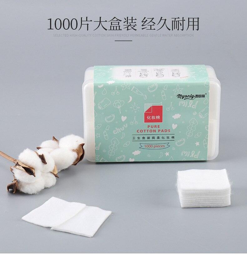 Removedor de maquiagem algodão compressa molhada toalha