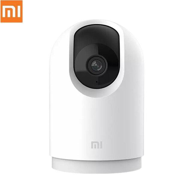 كاميرا آي بي ذكية أصلية من شاومي Mijia بزاوية 360 مع بوابة PTZ Pro تردد مزدوج 2.4 جيجا هرتز/5 جيجا هرتز مع عدة واي فاي لمراقبة المنزل