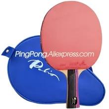 Table-Tennis-Racket Racket-Bag Sponge CJ8000 Carbon-Ping-Pong PALIO 3-Star Paddle Rubber