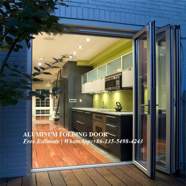 Hurricane Proof Double Glazing Aluminum Folding Door,Multi-Leaf Door