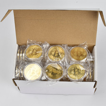 100pcs/Lot Gold Plated Physical Bitcoins Bit Coin BTC  Gift commemorative Metal