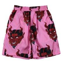 Devil Full Printed Shorts Men Streetwear Hiphop Harajuku Elastic Waist Summer Shorts Men Beach Casual Sports Brand Short Pants