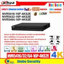Dahua Grabadora de vídeo NVR 4K PSP, NVR5416 16P 4KS2E NVR5432 16P 4KS2E 16PoE, 16 canales, 32 canales, 64 canales, countiing de personas, NVR5464 16P 4KS2E