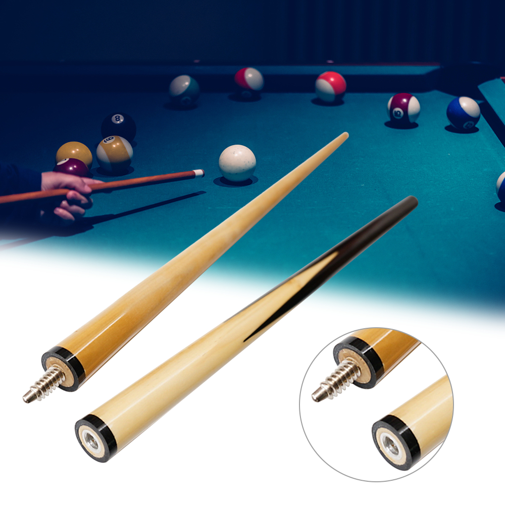 Camping 2-Piece Wooden Pool Cue Stick 48In Junior Kid Billiard Shaft Entertainment Snooker Billiard Tool Pool Cue Stick