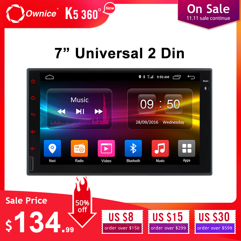 Ownice K1 K2 K3 Octa 8 Core Android 2G RAM 3 2G B ROM 4G LTE SIM GPS 2 Din Universal Radio Del Coche Reproductor De Dvd
