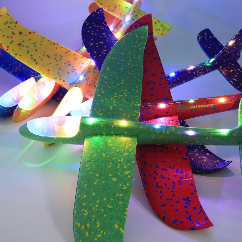 36-48 см ручной бросок Летающий планер самолет из пеноматериала детские игрушки модель планер самолет дети подарок игрушка бесплатно летающи...