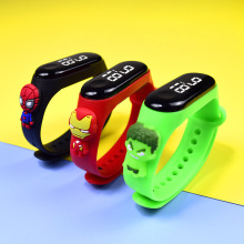 Selling Spiderman iron Man Captain America Doll Children's electronic bracelet Student LED Cartoons Sports electronic watch