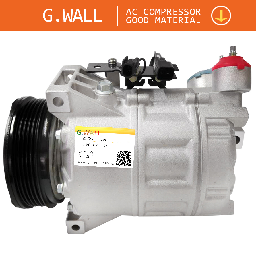 New FOR VOLVO S80 V70 XC60 XC70 2.4 2.5 AC COMPRESSOR <font><b>30780443</b></font> 31250519 31291135 31305833 3600023136002113 36002747 36002425 image