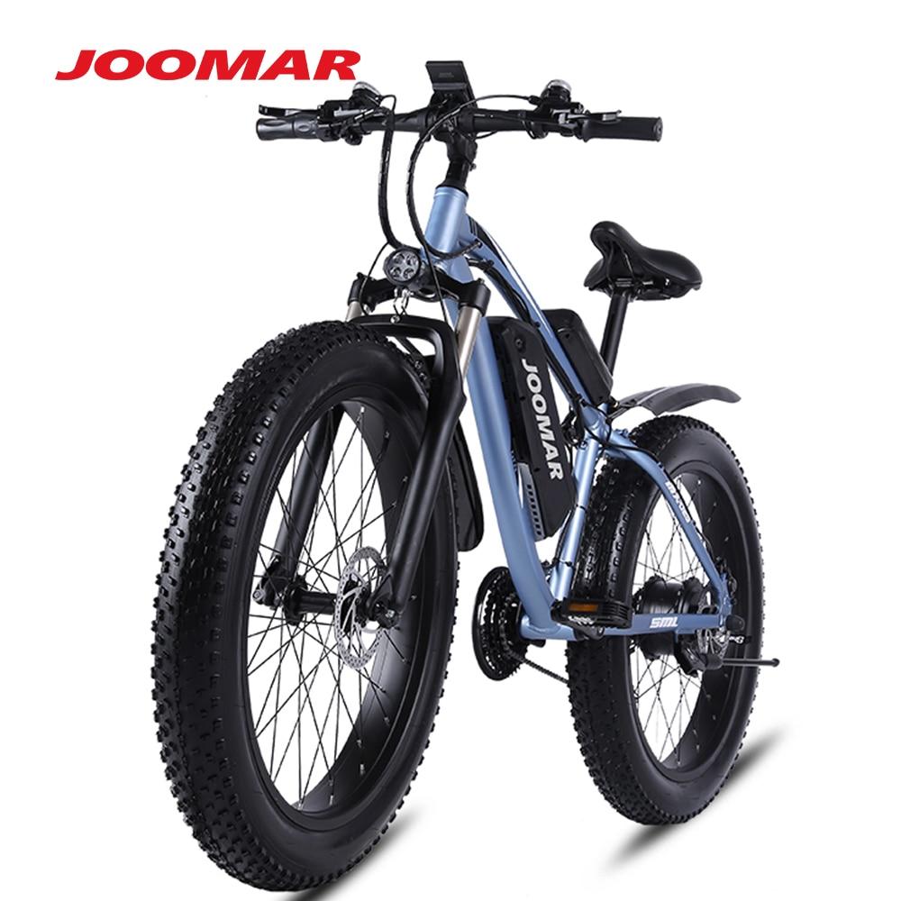 JOOMAR Electric Bike 1000W 48V Motor 4.0 Fat Tire Mountain Bike Beach Snow Bicycle for Men MTB Ebike Kit 17AH Battery JM02S Plus 2