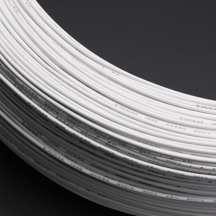 20 м/50 м 12 СРГ-22awg высокой температуры PTFE UL1332 провода масла и кислотостойкости FEP луженая медная проволока