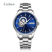 CADISEN zegarek japonia NH39A ruch mechaniczny automatyczny zegarek na rękę mężczyźni luksusowy zegarek szkieletowy z tourbillonem zegarek zegar Relogio Masculino tanie tanio AIMIMO DESIGN 5Bar CN (pochodzenie) Klamerka z zapięciem Moda casual Mechaniczna nakręcana wskazówka Samoczynny naciąg