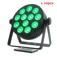 10pcs/lot dj par light 6in1 cheap stage par can dmx led par can 12x12w mini par light party lights ktv club lights