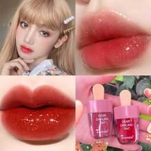 TEAYASON Ice Cream Fruit Lip Glaze Lasting Waterproof Mirror Non-stick Cup Lip Gloss Dye Lip Liquid Lipstick TSLM1