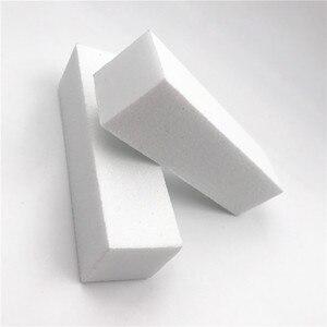 10 шт./компл. белая шлифовальная губка для ногтей, буферная пилка для искусства ногтей, буферная пилка для маникюра и педикюра, пилка для ногтей