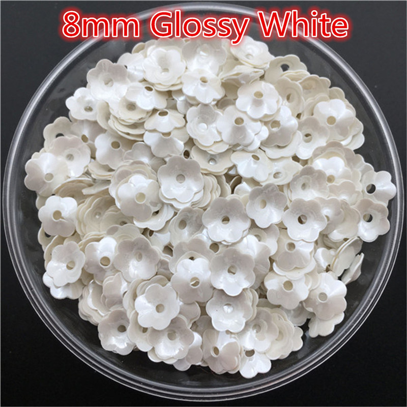 New-8mm-Plum-Blossom-White-Cup-Loose-Sequin-Flower-Sewing-Wedding-Confetti-Craft-Kids-DIY-Garment