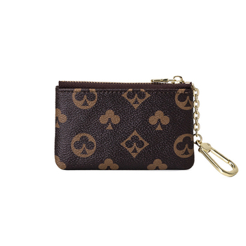 Famous Brand Designer Zipper Coin Purse Mini Classical Wallet Purse Women Leather Key Bag KeyChain Purse and Female Wallet Coin 1