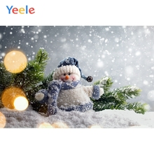 Yeele Christmas Carnival Photocall Bokeh Snow Snowman Photography Backdrop Personalized Photographic Background For Photo Studio