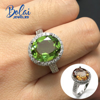 Zultanite rings created color change gemstone 925 sterling sliver solitaire ring top quality fine jewelry Bolaijewelry promotion