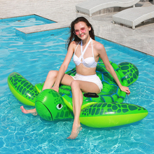 Inflatable Swim Float Swimming Pool Float Sea Turtle Pattern Swimming Ring Inflatable Pool Lounge For Summer Outdoor Water Fun