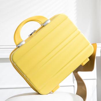 Mini przenośny bagaż torba wodoodporny przybornik na kosmetyki carry on bagaż twarda obudowa walizka makijaż box walizki i torby podróżne tanie i dobre opinie 17cm 26cm 30cm YS003 WOMEN