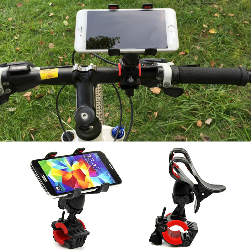 Universal <font><b>Bicycle</b></font> Phone <font><b>Holder</b></font> <font><b>Smartphone</b></font> Adjustable Motorcycle Phone GPS Stand Bracket ASD88 image