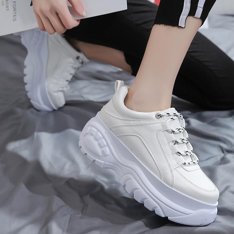 2019 Autumn Platform Buffalo Shoes Women Casual Sneakers Round Toe Flats Zapatillas Mujer ST456 ST463