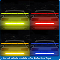 Внешняя Предупреждение ждающая лента Автомобильная отражающая лента, отражающая наклейка для автомобиля, лента для кузова багажника, бесс...