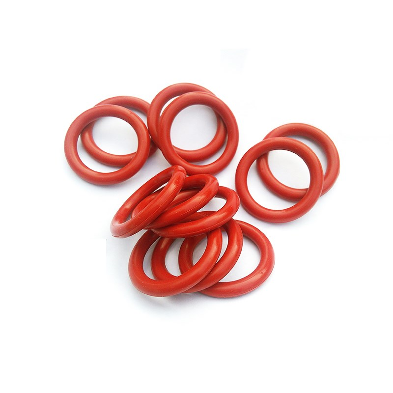 Custom CS <font><b>7mm</b></font> 5pcs VMQ <font><b>O</b></font> <font><b>Ring</b></font> Washers Silicone Sealing Gaskets Spacer ID 40 - 405MM Red image