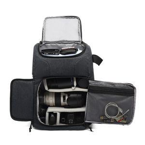 Image 2 - Multi funcional à prova dwaterproof água saco da câmera mochila mochila grande capacidade portátil saco da câmera do curso para a fotografia exterior