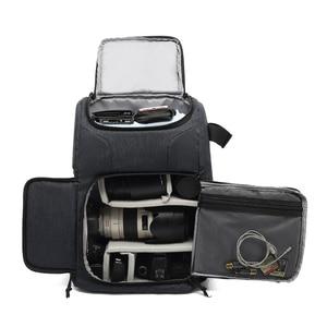 Image 2 - Multi functional Waterproof Camera Bag Backpack Knapsack Large Capacity Portable Travel Camera Bag for Outside Photography
