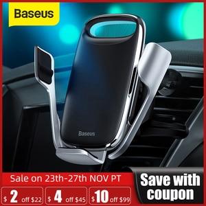 Image 1 - Baseus רכב מחזיק טלפון אלחוטי מטען עבור iPhone תמיכה תשלום מהיר 3.0 אוויר Vent הר מחזיק רכב אלחוטי טעינה מחזיק