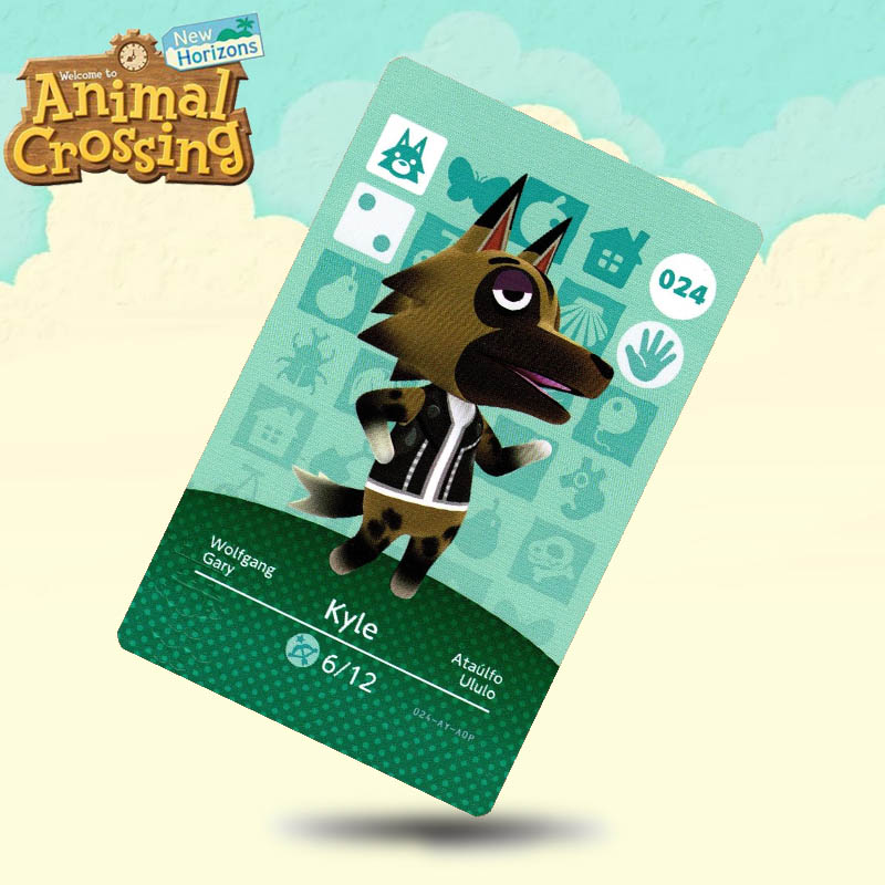 024 Kyle  Animal Crossing Card Amiibo Cards Work For Switch NS 3DS Games