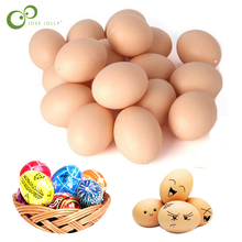 5/10Pcs Hatching Egg Hen Poultry Hatch Breeding Plastic Artificial  Fake Eggs DIY Painting Egg Educational Kids Toys ZXH