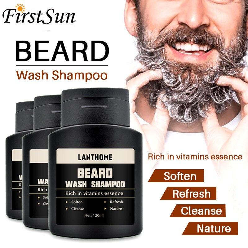 120ml Men Beard Wash Beard Shampoo Deep Cleansing Nourishing Beard Hair Cleanser Vitamin Essence Repair Keep Beard Shaping