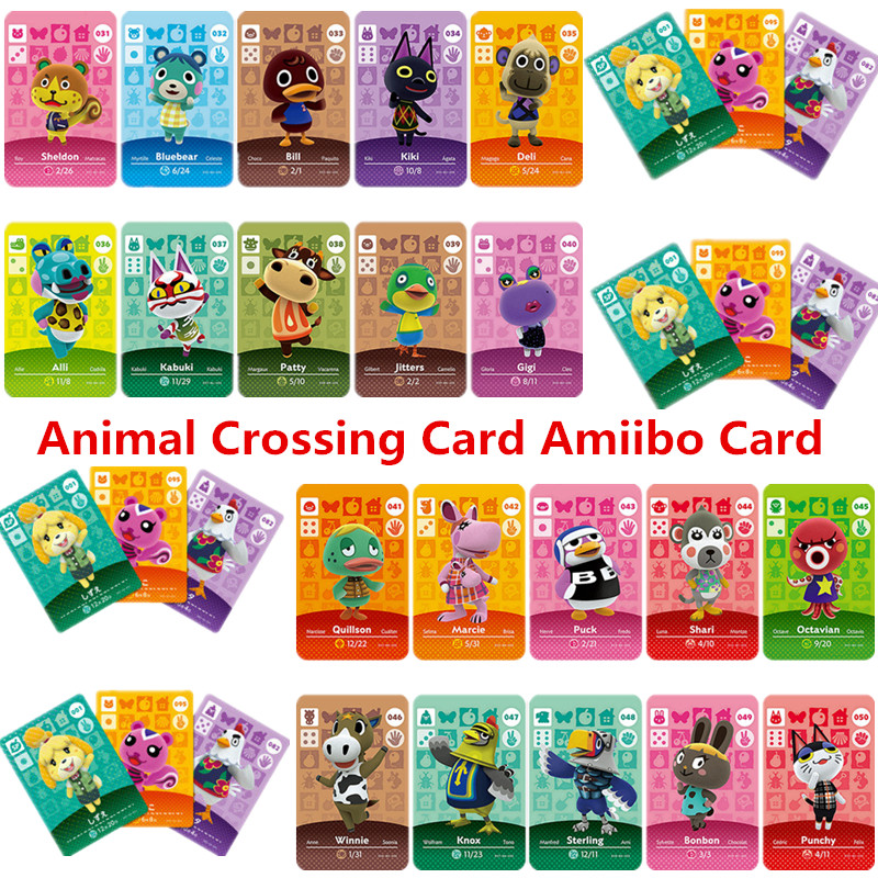 Animal Crossing Card Amiibo Card Work For NS Games Series 1 (031 To 060)