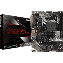 ASRock Super Alloy B450M-HDV placa base de escritorio B450 Socket AM4 DDR4 32G SATA3, 1 Ultra M.2 USB 3,1 VGA HDMI micro-atx