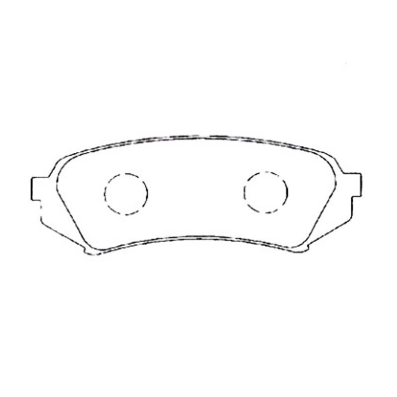 AKEBONO pastiglie dei freni pastiglie freno posteriore a disco FIT PER TOYOTA LAND CRUISER 100, LEXUS LX470 AN-499K
