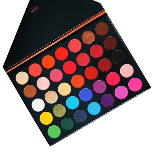 Beauty Glazed 35 Colors Pearlescent Matte Eyeshadow Palette Beauty Makeup Palette Shimmer Pigmented Eye Shadow Maquillage TSLM2
