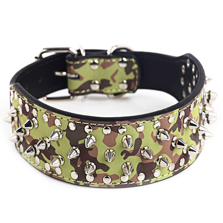 Cool Rivet Pet Necklace Dog Collar Pet Collar Large Dog Traction Rope Pet Supplies