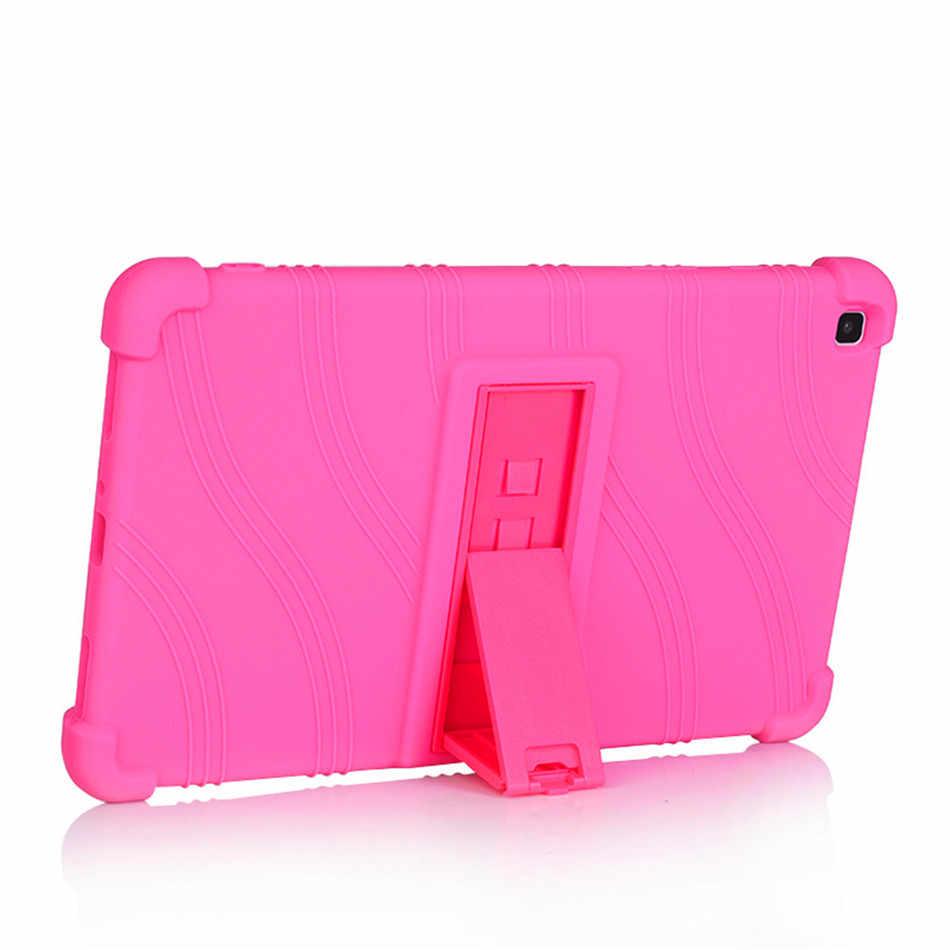 Kasus untuk Samsung Tab A 8.0 2019 Tablet Cover Funda Tab 8.0 SM-T290 T295 T297 Silikon Lembut Tubuh Penuh pelindung Berdiri Shell