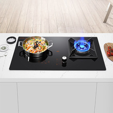 Gas Stove with Induction Cooker Embedded Cooktop Household Kitchen Cooking Machine 220v LPG/Natural Gas Cooker electric magnetic induction cooker household special waterproof mini small hot pot stove kitchen cooktop eu us plug adapter 220v