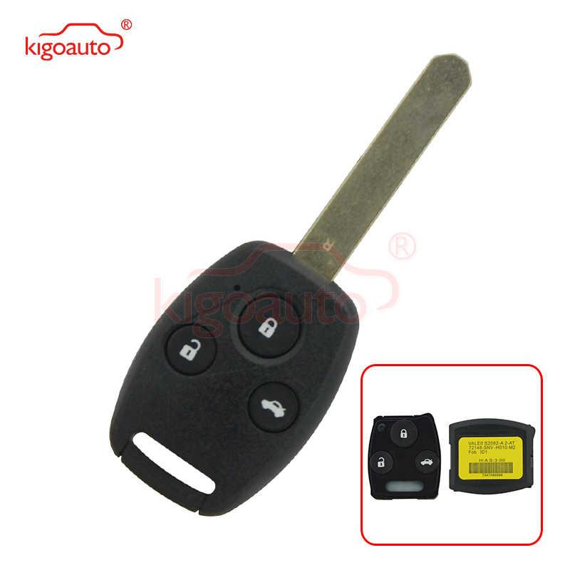Kigoauto OEM 72148-SNV-H010-M2 clé de voiture à distance 3 bouton 313.8 Mhz S2082-A 2-AT pour clé à distance Honda Civic key